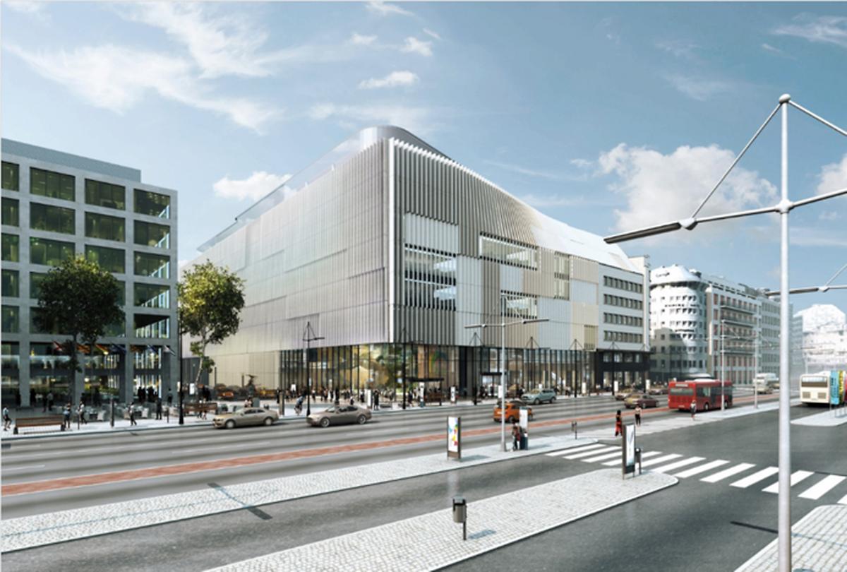 Post Luxembourg est en train de faire construire son futur siège juste en face de la gare centrale.