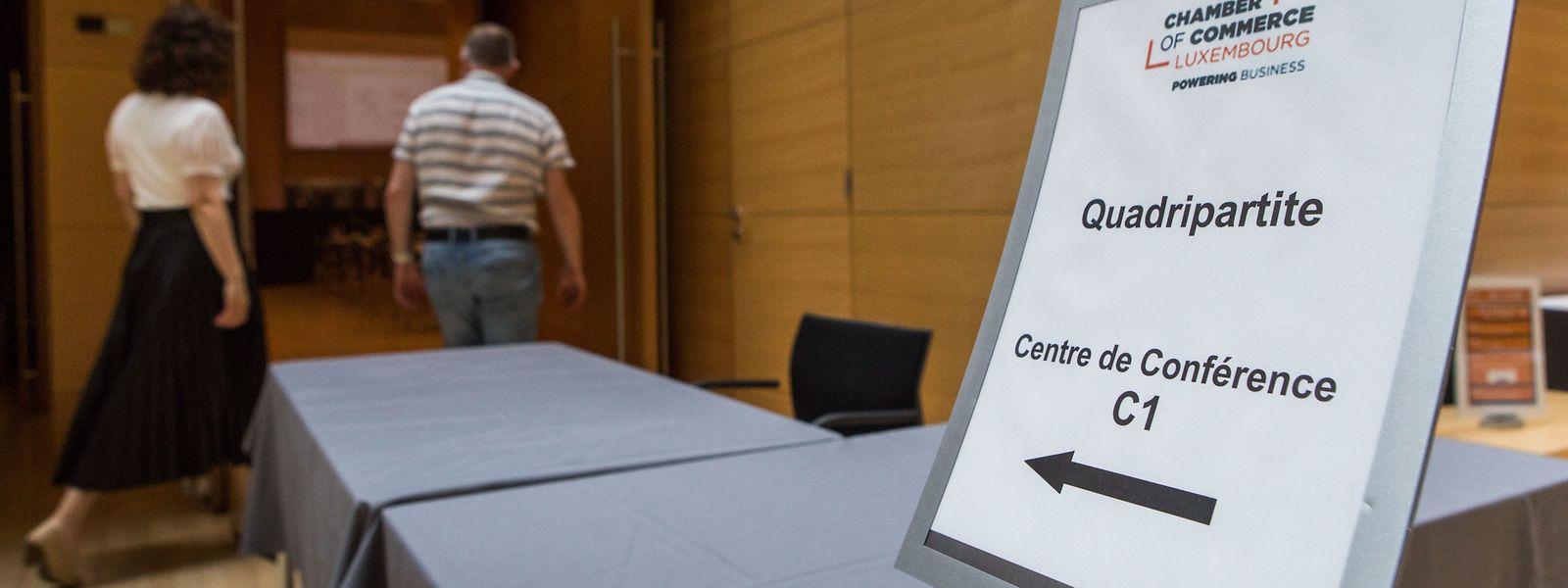 Bei der Quadripartite standen die Auswirkungen der Corona-Pandemie auf die Gesundheitskasse im Mittelpunkt.
