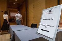 Politik, Versammlung Quadripartite, Foto: Lex Kleren/Luxemburger Wort