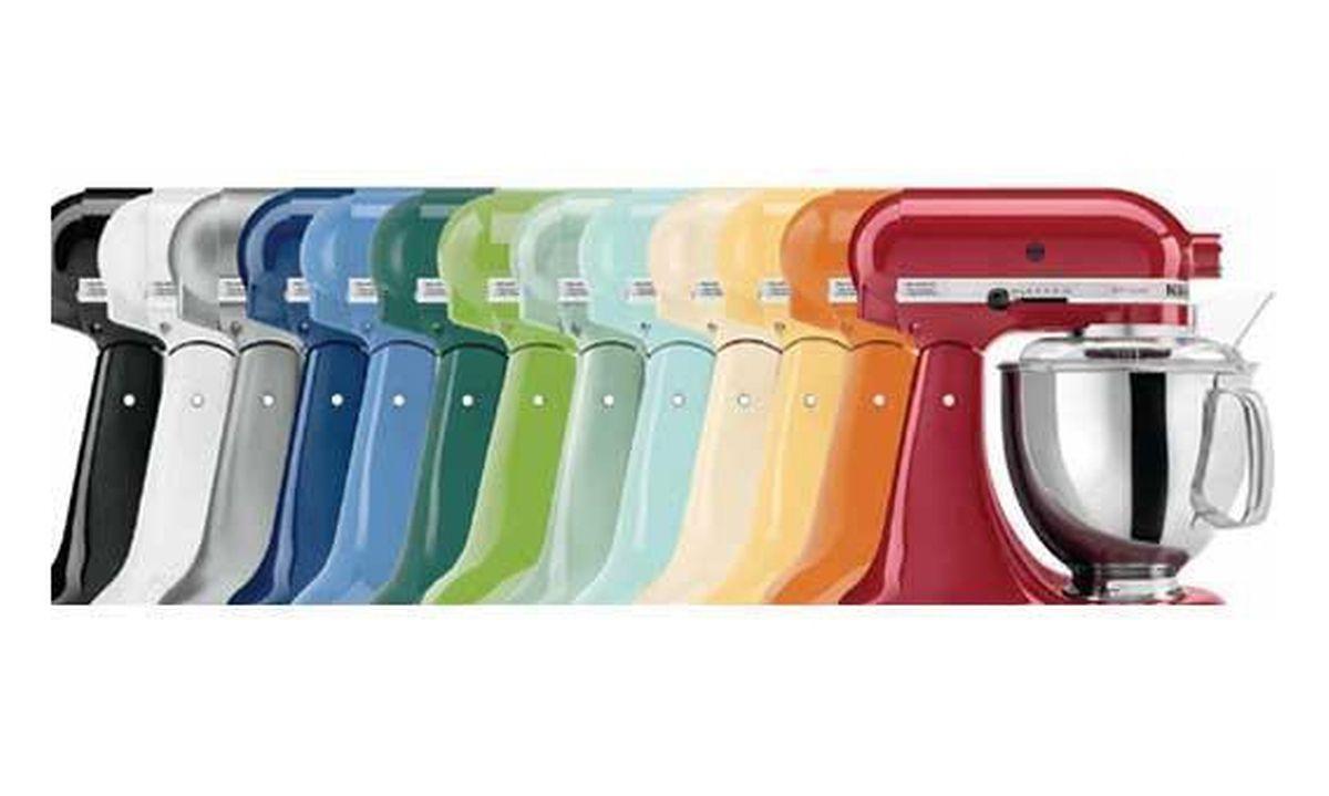 """Les couleurs vives sont une véritable """"signature"""" chez KitchenAid depuis 1994"""