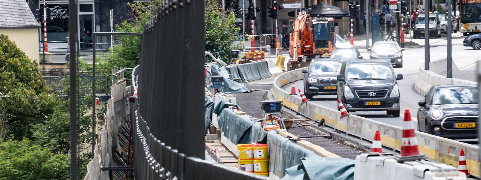 Pas question d'interrompre les travaux sur l'Al Bréck, dans la capitale. Le chantier devant s'achever avant la fin 2021.