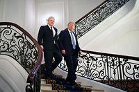 Der Premierminister von Großbritannien, Boris Johnson (l), und US-Präsident Donald Trump verstehen sich prächtig.