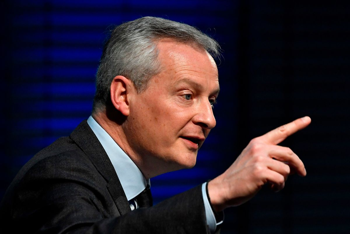 French Minister of the economy and finance Bruno Le Maire Photo: AFP