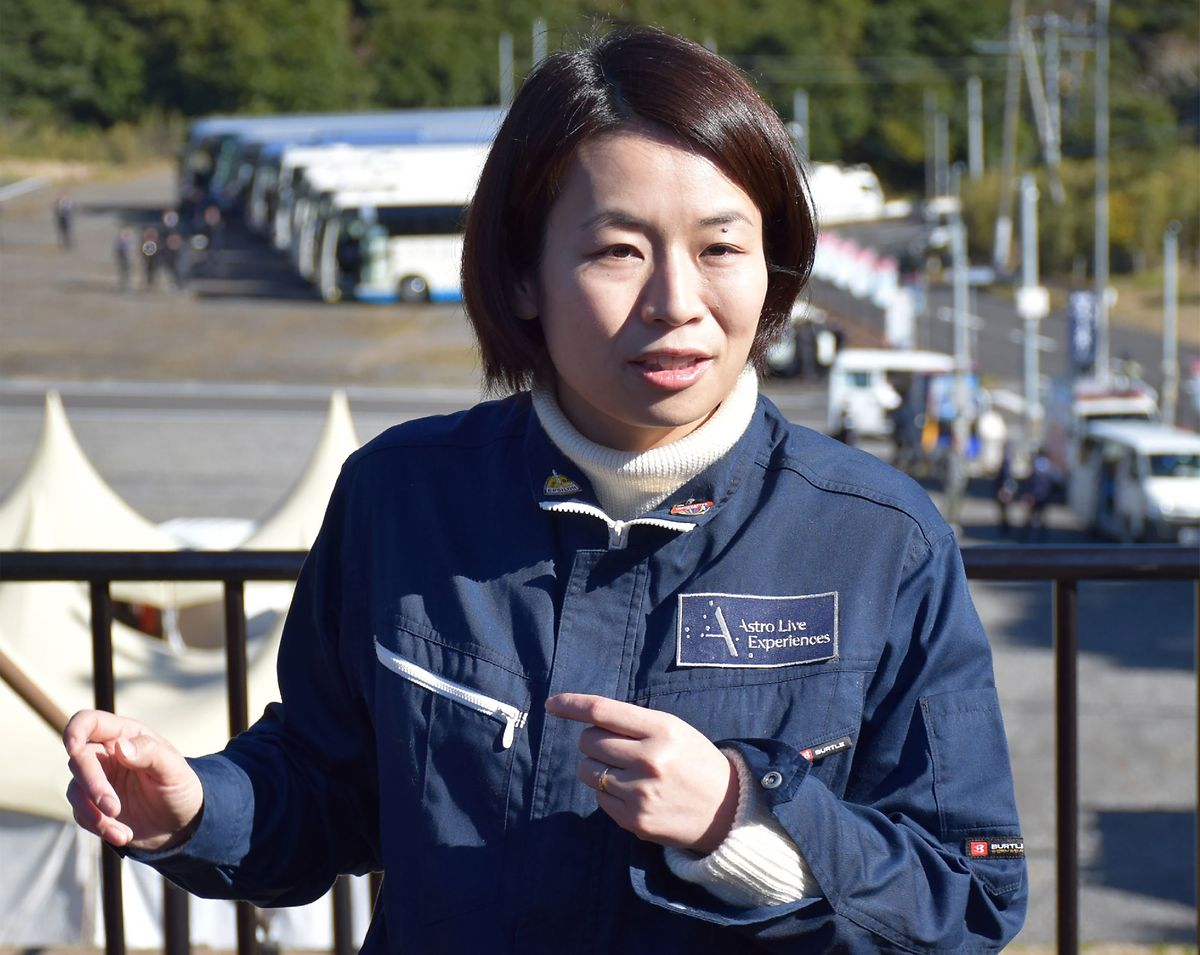 Lena Okajima, présidente de la firme ALE, à l'origine du projet d'averses de fausses météorites