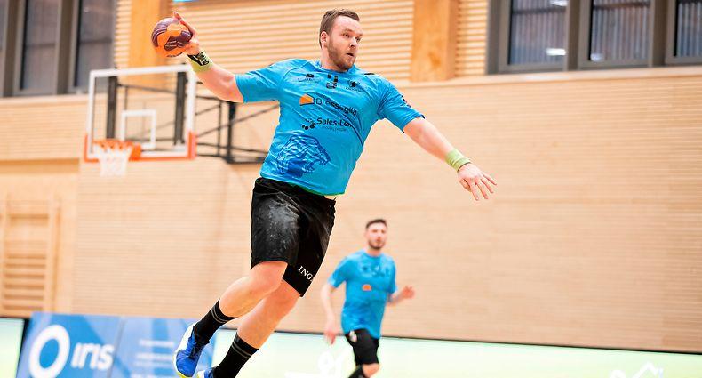 Milasin Trivic (Kaerjeng 3) / Handball, Axa League Maenner, Red Boys - Kaerjeng / 24.03.2021 / Niederkorn / Foto: Christian Kemp