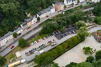 Lokales,Renaturierung der Petruss.Neu angelegter Parkplatz und archäologische Ausgrabungen.Foto: Gerry Huberty/Luxemburger Wort