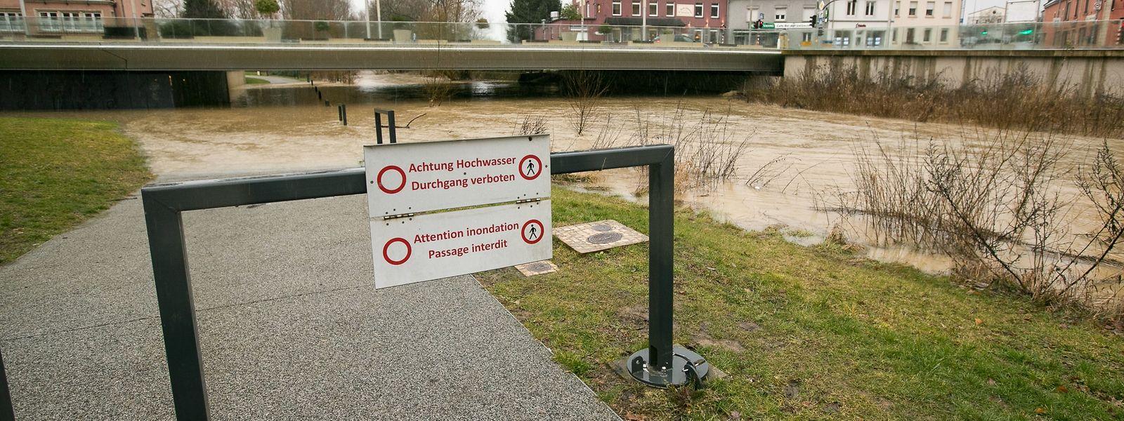 Hesperingen hat sich auf das Hochwasser vorbereitet.