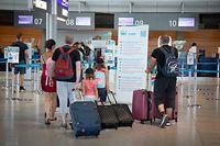 WI,Flughafen Luxemburg,Findel.Luxairport, Urlaub, Reisende,Covid19,Corona,Foto:Gerry Huberty/Luxemburger Wort