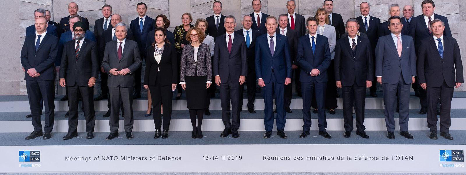 Die Verteidigungsminister der Nato-Mitgliedstaaten bei einem Treffen im Nato-Hauptquartier in Brüssel.