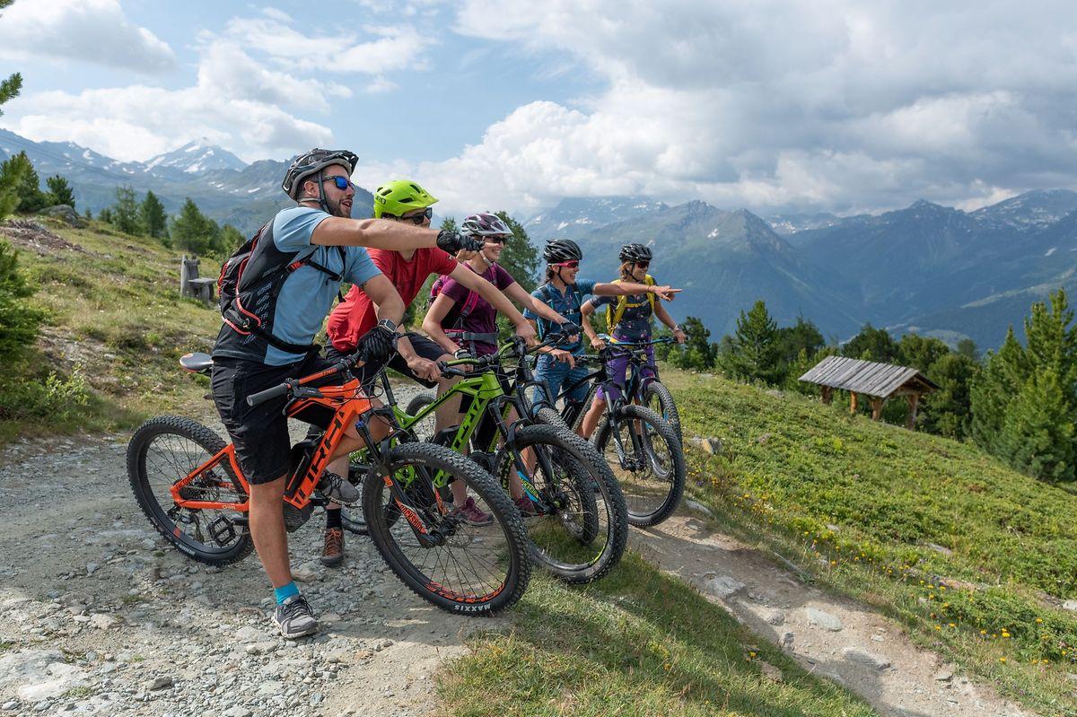 In Saint Luc/Chandolin kommen auch Radfahrer auf ihre Kosten.