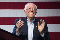 (FILES) In this file photo taken on March 1, 2020 Democratic White House hopeful Vermont Senator Bernie Sanders arrives to speak during a campaign rally at the Convention Center in Los Angeles, California. - Sen. Bernie Sanders, the independent senator from Vermont who ended his presidential bid April 8, 2020, said on a live stream hosted by former vice president Joe Biden on April 13, 2020 that he was endorsing Biden, the presumptive Democratic presidential nominee. (Photo by Mark RALSTON / AFP)