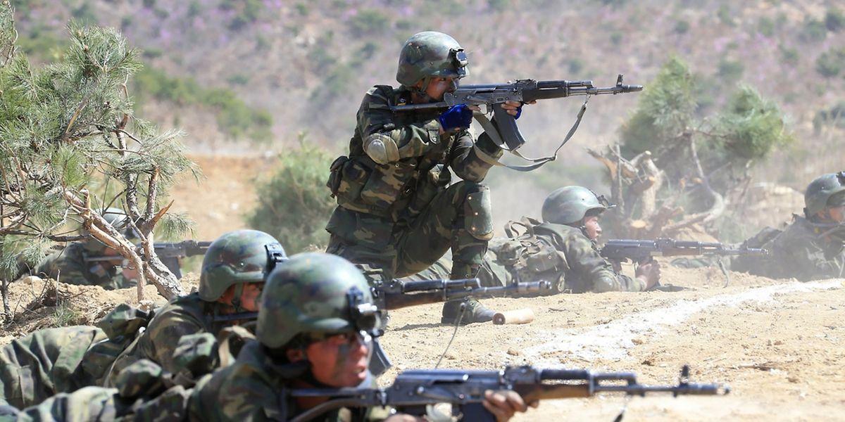 Die nordkoreanische Armee probt für den Ernstfall.