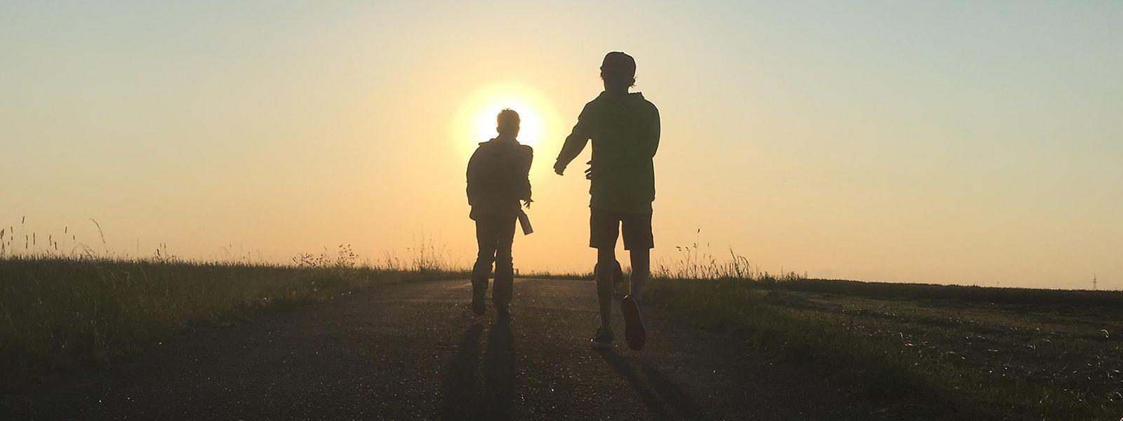 Auch Kinder und Jugendliche haben ihren Spaß beim Wandern.
