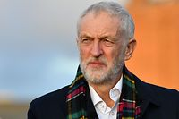 (FILES) In this file photo taken on December 01, 2019 opposition Labour Party leader Jeremy Corbyn looks on during a general election campaign visit at Whitby Leisure Centre in Whitby, northern England. - The long-awaited report on allegations of anti-Semitism in the Labour Party is to be published on October 29, 2020. (Photo by Paul ELLIS / AFP)