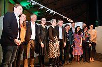 Politik, pot de nouvel an, Parei, déi Gréng, Rotondes, Rede von Djuna Bernard ,Bernard Kmiotek Foto: Anouk Antony/Luxemburger Wort