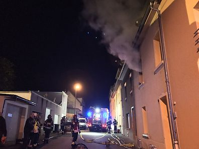 Fire broke out in a Dudelange house, Thursday evening