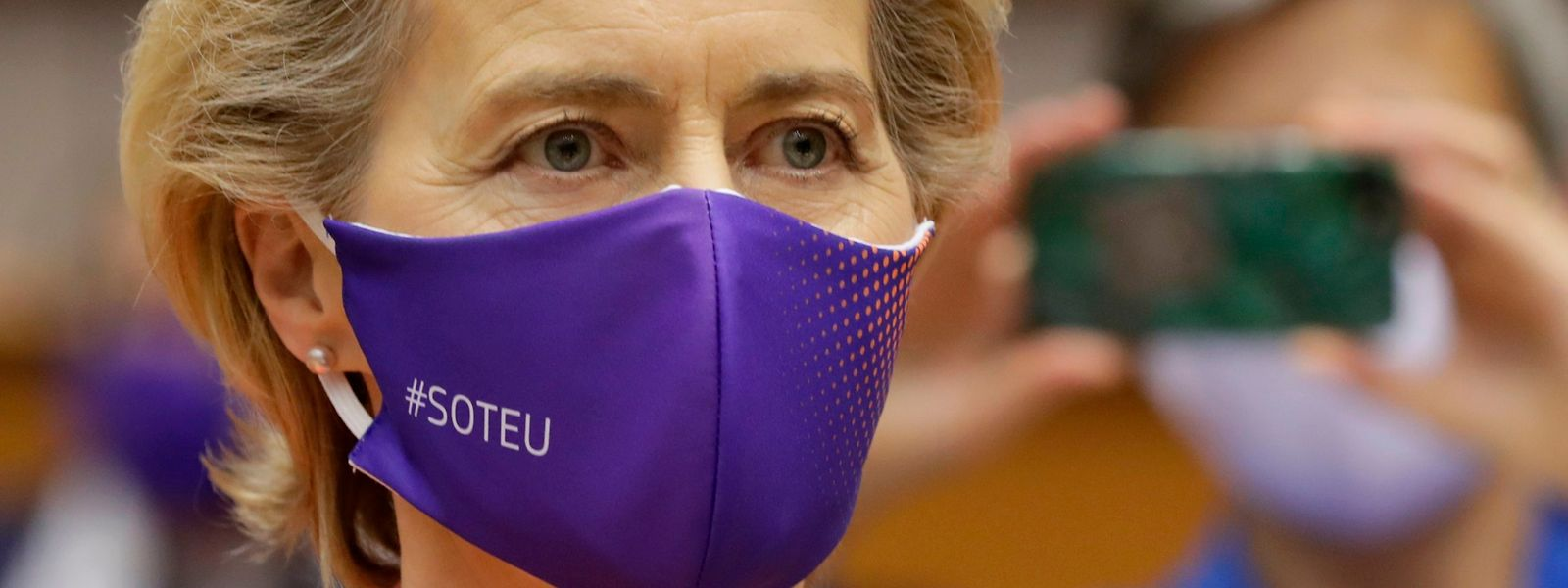 Ursula von der Leyen vor ihrer ersten Rede zur Lage der Union am 16. September in Brüssel.