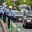 Der Sicherheitsaufwand in Fukuoka ist gewaltig.