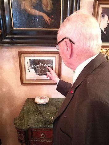 Photo du Général Cauchie avec le président Valéry Giscard d'Estaing