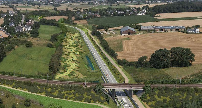 Die Umgehungsstraße wird 2,2 km lang. Dabei wurde auch an die sanfte Mobilität gedacht.