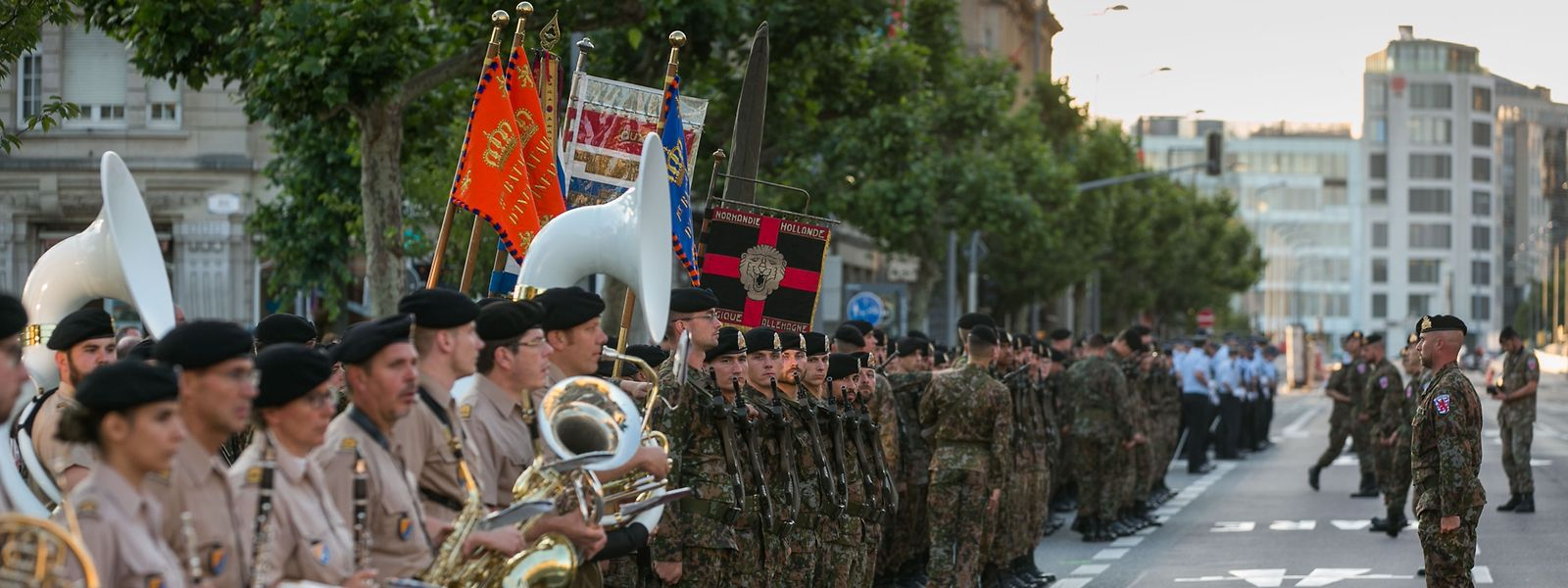 Probe Militärparade, Foto Lex Kleren