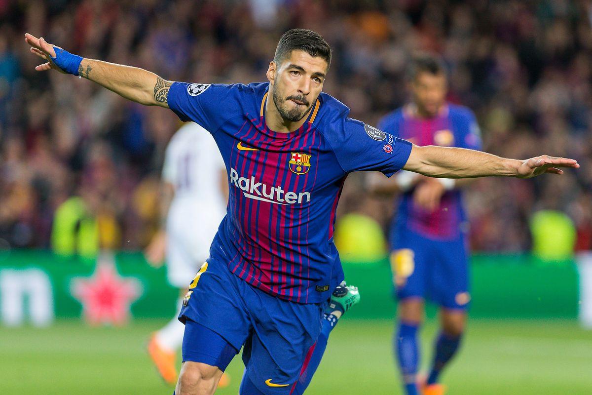 Luis Suarez fechou a goleada frente ao Roma