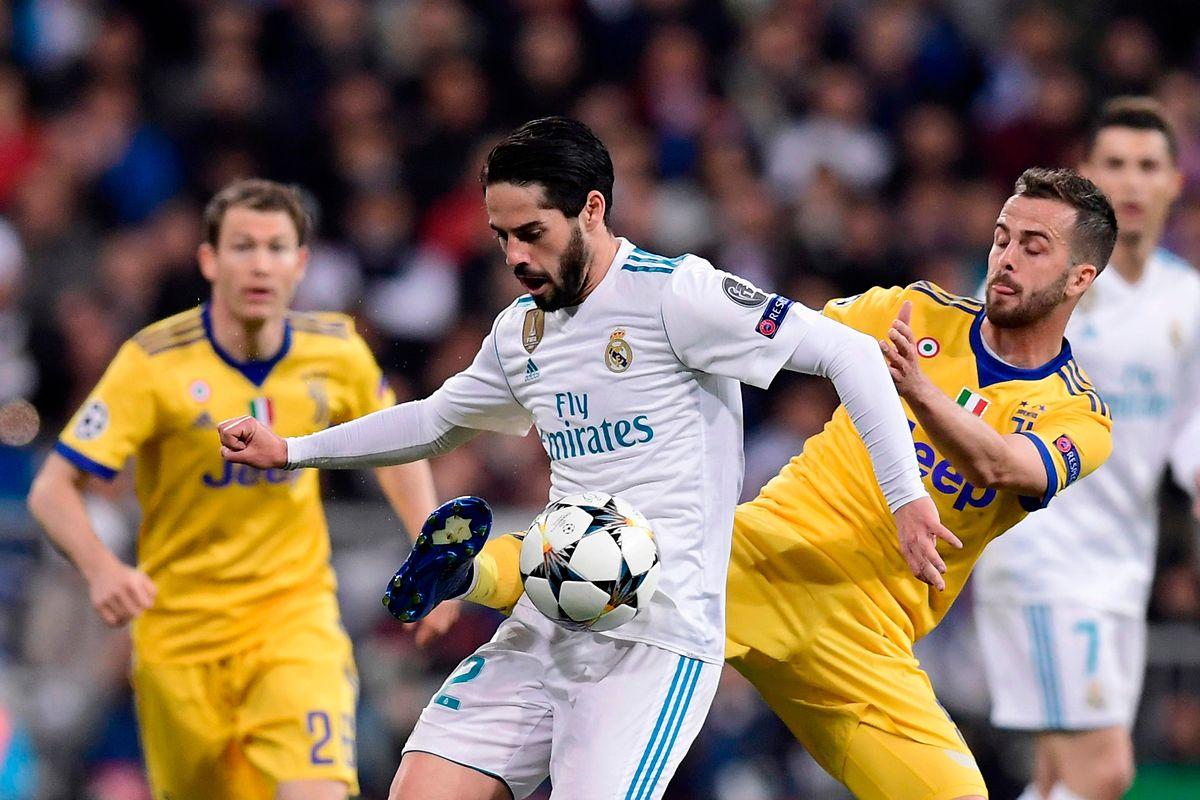 Kurz nach dem Anpfiff war klar, dass sich Juventus Turin um Miralem Pjanic (r., hier gegen Real Madrids Isco) nicht kampflos ergeben würde.