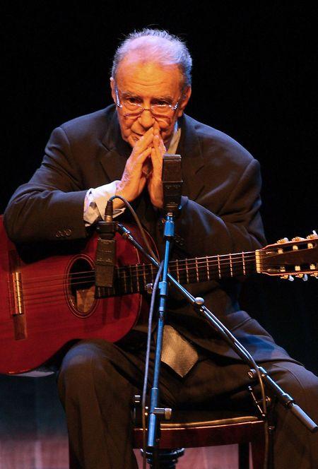 João Gilberto im August 2008 in São Paulo.