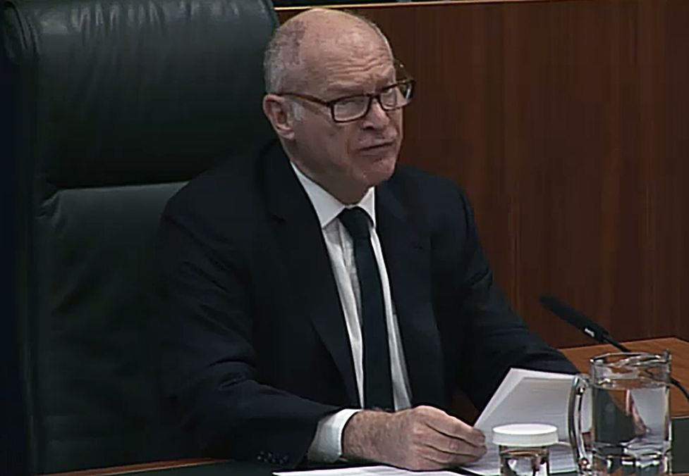 President of the Supreme Court David Neuberger as he delivers judgement