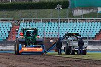 Lokales, online.fr, online.de, Stade Josy Barthel, Vorbereitungen, neuer  Rasen verlegen,  Foto: Anouk Antony/Luxemburger Wort
