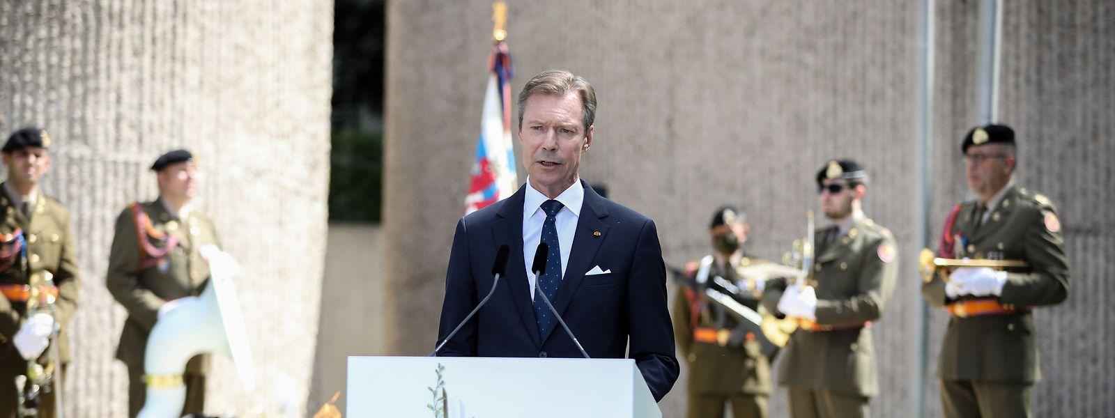 Großherzog Henri bei seiner Ansprache.
