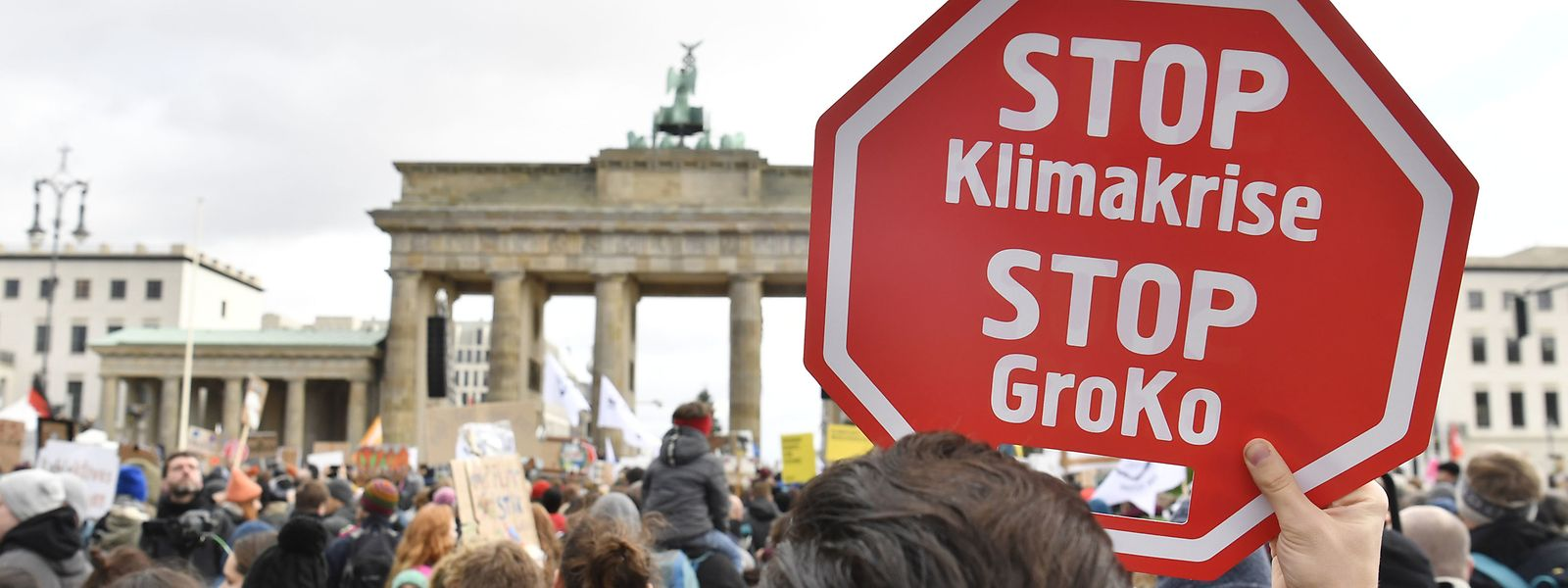 Klimaschutz-Proteste am Brandenburger Tor in Berlin.