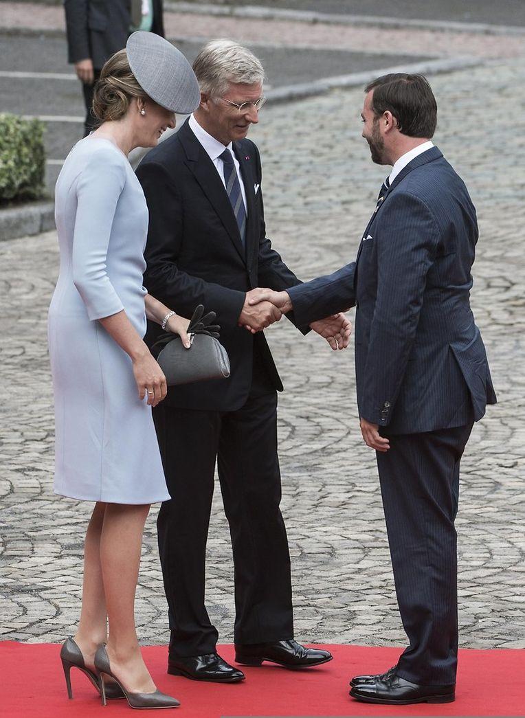 Der belgische König Philippe und seine Frau Mathilde begrüßten am Morgen zahlreiche Royals zur Gedenkfeier im belgischen Lüttich. Zu den Gästen gehörte der luxemburgische Erbgroßherzog Guillaume.