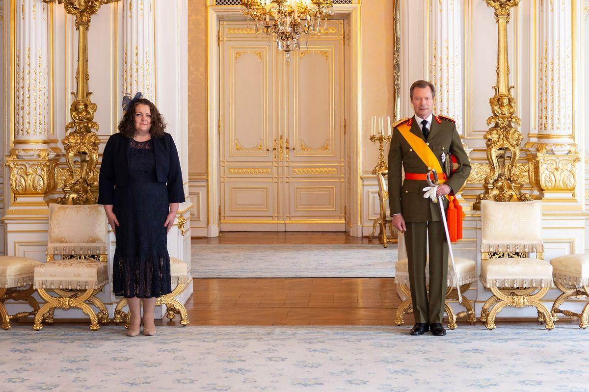 Fleur Thomas überreichte ihr Beglaubigungsschreiben am 21. April im Rahmen einer Audienz an Großherzog Henri.