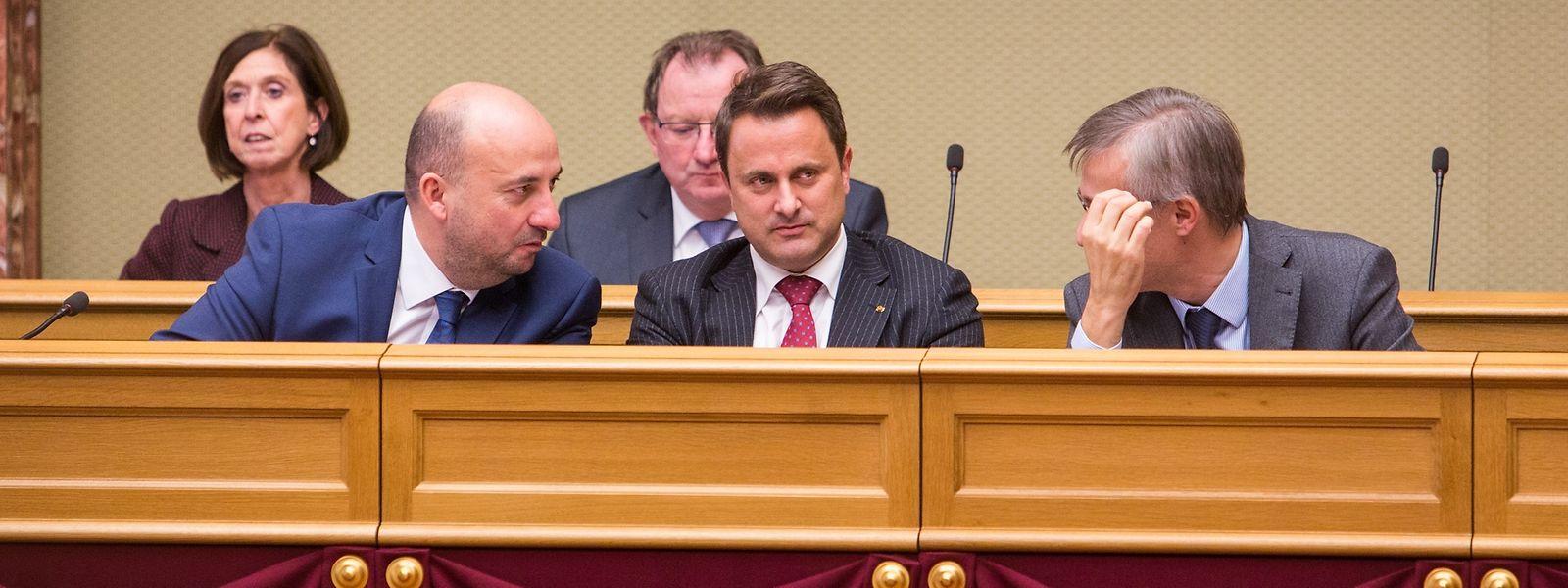 Etienne Schneider, Xavier Bettel e Felix Braz