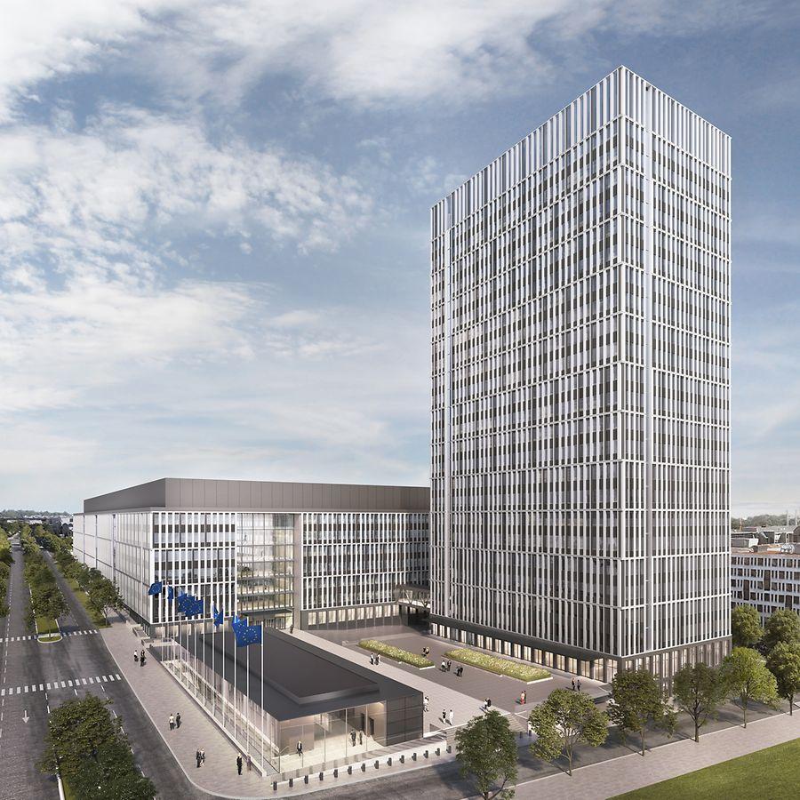Das neue Gebäude soll sich in das moderne Stadtbild des Kirchbergs einfügen.