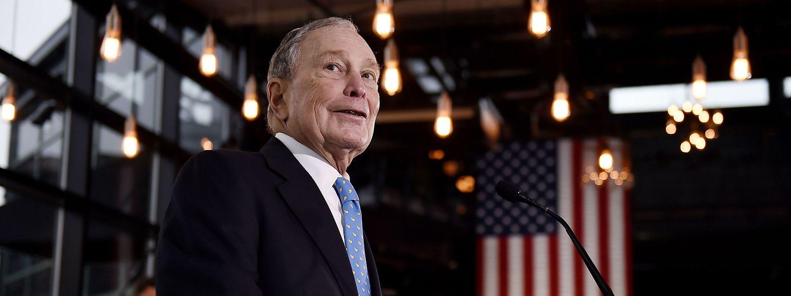 Der frühere New Yorker Bürgermeister Michael Bloomberg ist spät in den Wahlkampf um das Weiße Haus eingestiegen.