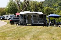 "Auf dem Campingplatz ""Camping de la Sûre Reisdorf"" herrscht bereits sorglose Urlaubsstimmung."