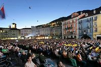"""Piazza Grande in Locarno beim """"Festival Internazionale del Film"""""""