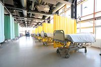 Lokales, Corona-Virus Covid 19, CHEM Esch Alzette, Die Kantine des CHEM wurde in eine Pflegestation umgebaut, Foto: Guy Wolff/Luxemburger Wort