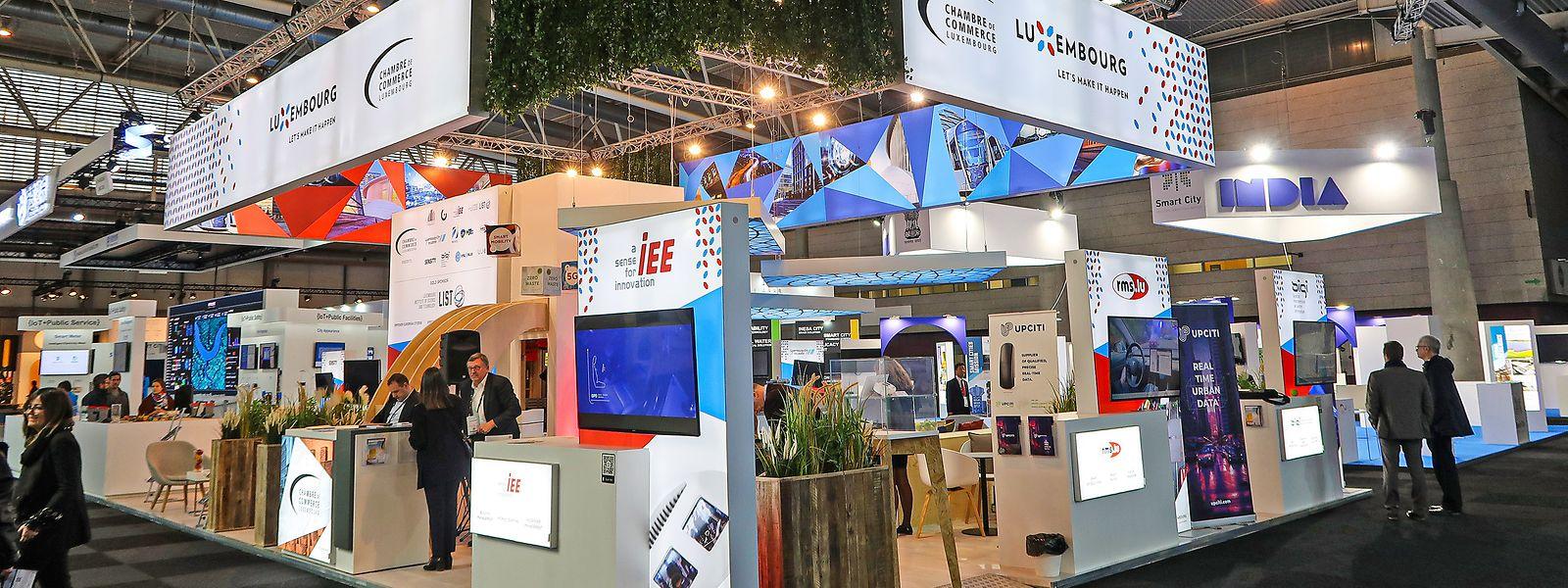 150 Quadratmeter groß: Auf dem von der Handelskammer organisierten Gemeinschaftsstand präsentieren sich elf Unternehmen.