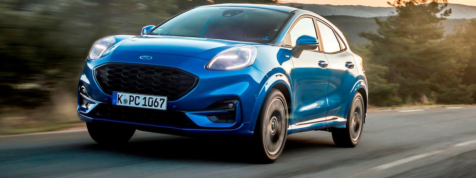 Der neue Puma – auf dem Bild in der ST-Line-Variante – wartet mit Ford-typischen, tadellosen Fahreigenschaften auf.