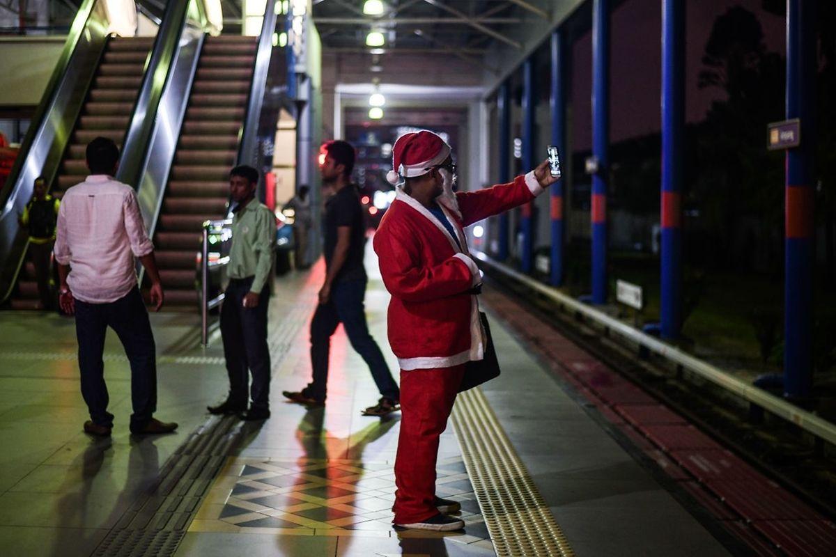 Santa in Kuala Lumpur.