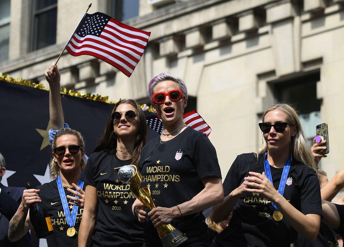 """Die Weltmeisterinnen sind enttäuscht darüber, dass der Verband """"zutiefst diskriminierende"""" Bedingungen aufrechterhalten wolle."""