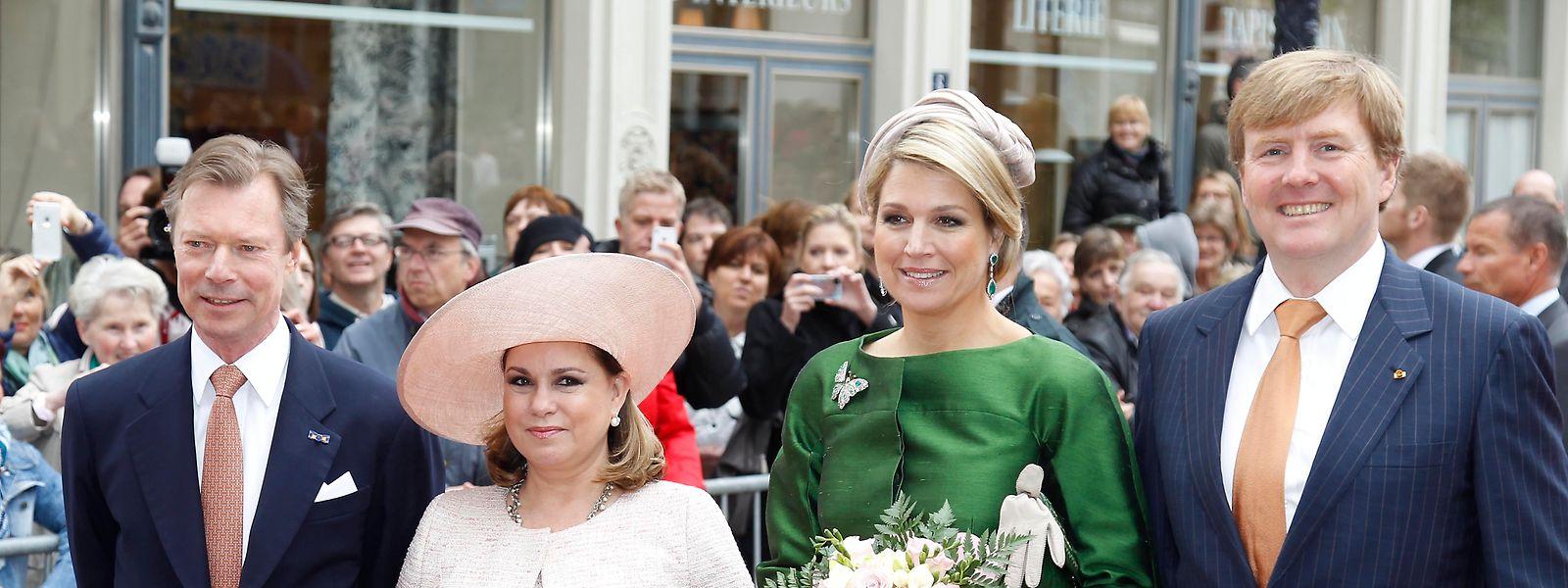 König Willem-Alexander und Königin Máxima der Niederlande kamen bereits 2013 zum Antrittsbesuch ins Großherzogtum.