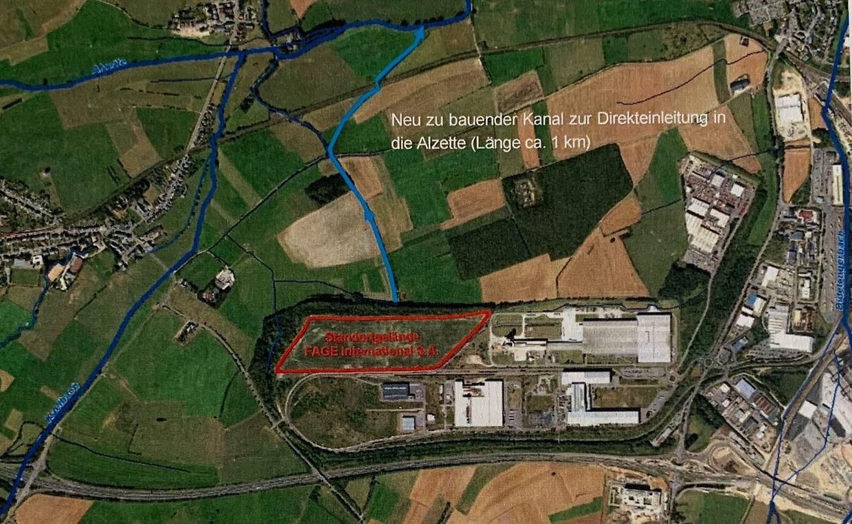 Fage avait fait l'acquisition, pour 30 millions d'euros, du terrain où le groupe souhaitait implanter son usine.