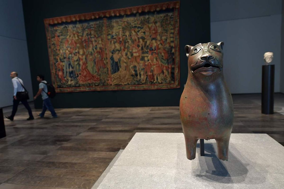 "Un bronze ancien intitulé ""Lion de Mari-Cha"""