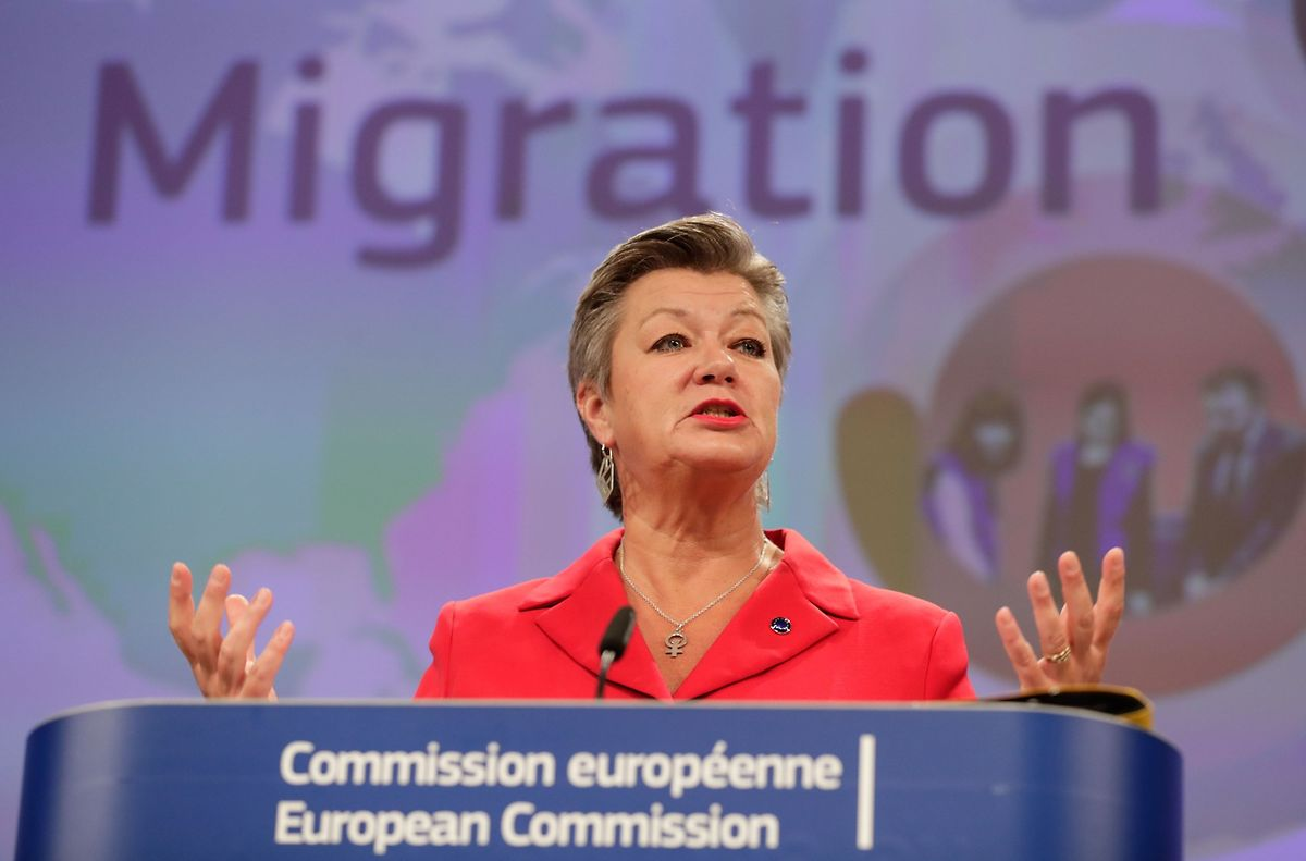 """""""Ich möchte, dass wir schnelle Entscheidungen und schnelle Rückführungen haben"""", sagt EU-Innenkommissarin Ylva Johansson."""