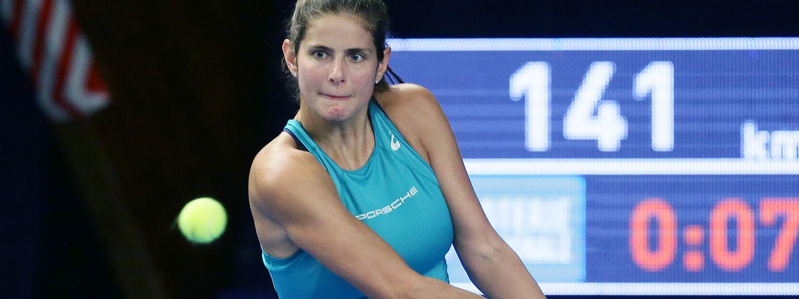 Julia Görges benötigte drei Sätze für ihren Halbfinaleinzug.