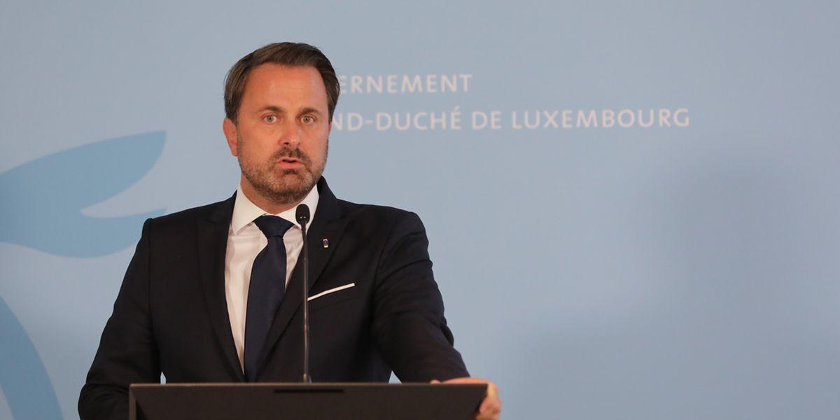 O primeiro-ministro, Xavier Bettel, diz que os médicos ainda não deram um diagnóstico definitivo.